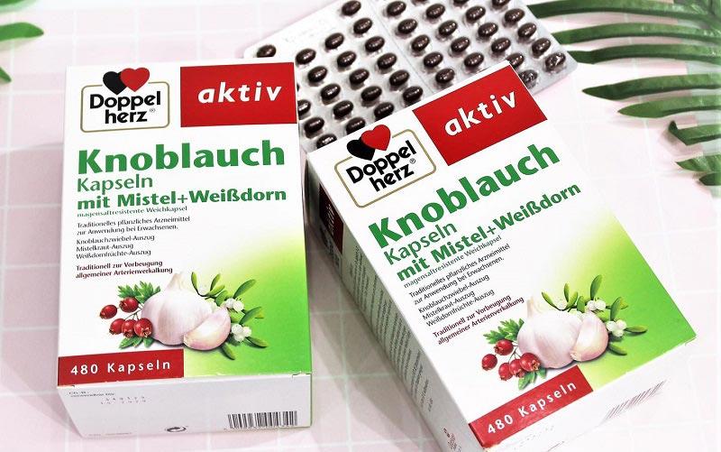Viên chiết xuất tỏi Doppelherz Knoblauch là lựa chọn của nhiều người tiêu dùng Việt