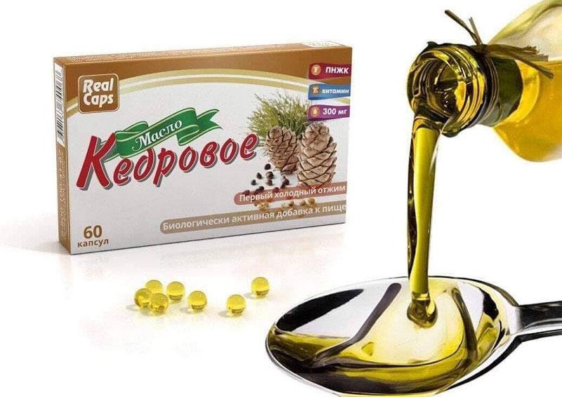 Real Caps Cedar Oil - Viên nang tinh dầu thông đỏ chăm sóc sức khỏe toàn diện