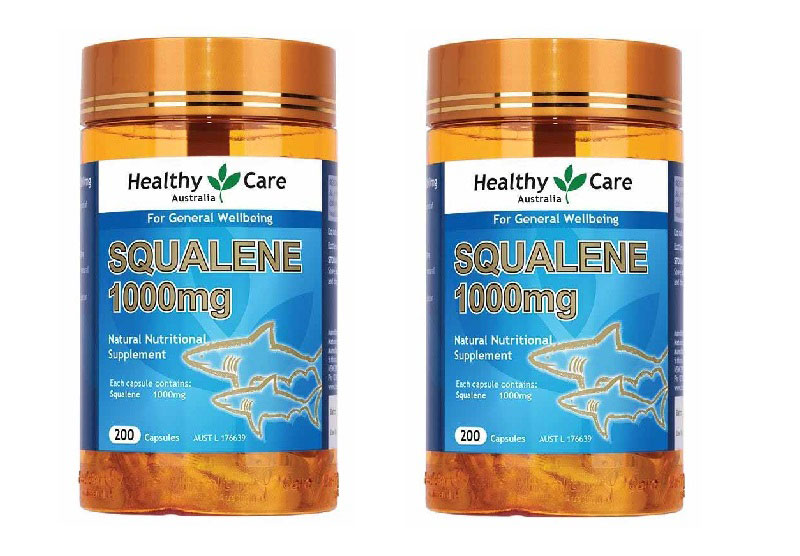 Viên uống chiết xuất dầu cá mập Healthy Care Squalene hỗ trợ ngăn ngừa tai biến, đột quỵ hiệu quả
