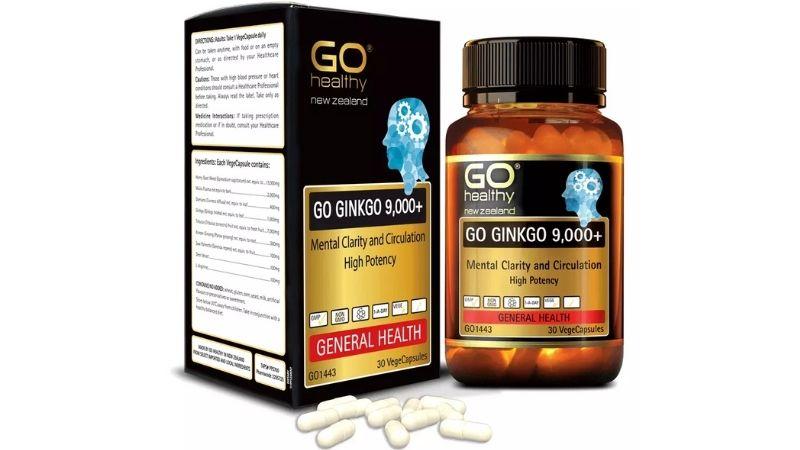 Go Ginkgo 9000 tăng cường tuần hoàn máu não