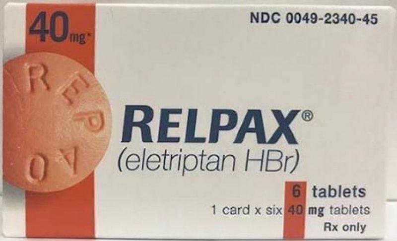 Eletriptan (Relpax) thuộc nhóm Triptans cải thiện cơn đau hiệu quả