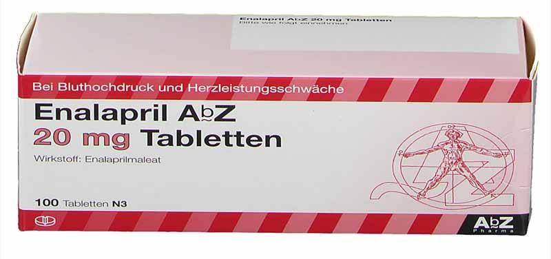 Thuốc huyết áp của Đức Enalapril AbZ có hiệu quả cao trong điều trị bệnh huyết áp