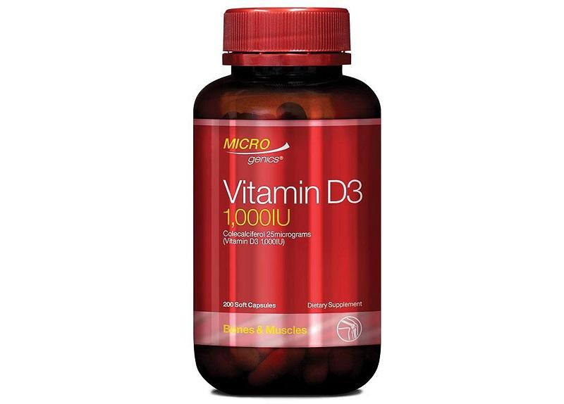 Microgenics Vitamin D3 1000IU giúp bé tăng chiều cao vượt trội