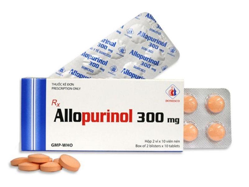 Thuốc Allopurinol với thành phần chính là hoạt chất Allopurinol