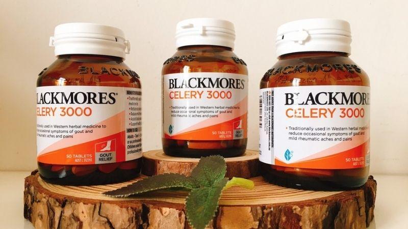 Blackmores Celery 3000mg là thực phẩm chức năng hỗ trợ trị gout của Úc cực nổi tiếng