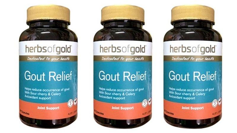 Gout Relief có chứa các thành phần thảo dược thiên nhiên rất an toàn cho cơ thể